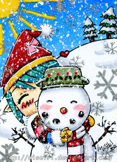 Snowy hug by Aiseiri
