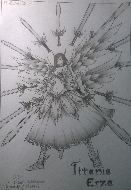 Erza: Cover Heaven wheel armor by TTotakuVN