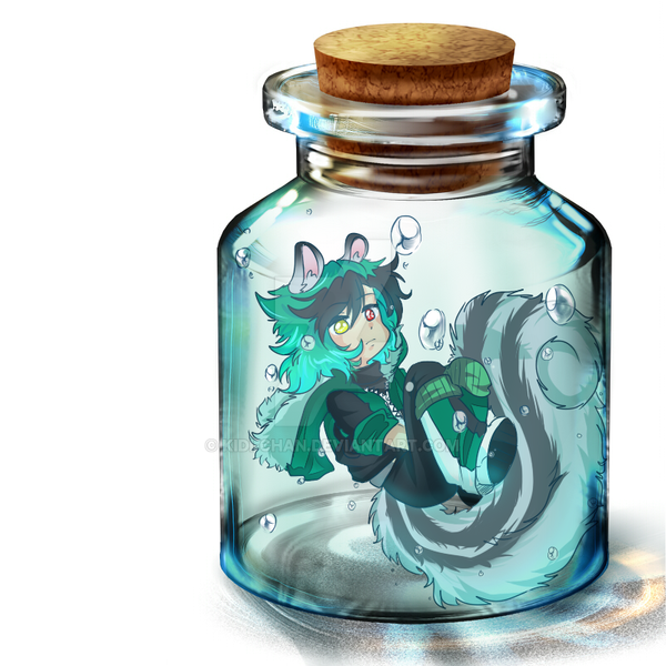 Squirrel in Bottle by KIDI-chan