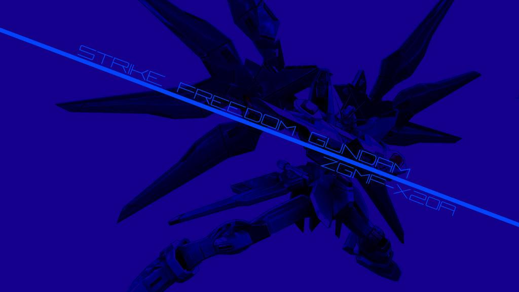 Strike Freedom Gundam Wallpaper (downloadable) by CLeRu087