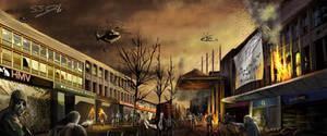 Zombie Apocalypse Southampton by SamDenmarkArt