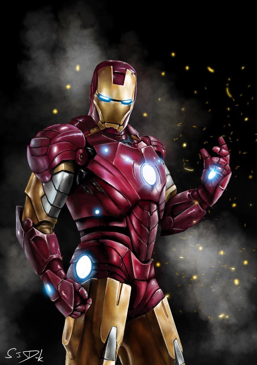 Iron Man by SamDenmarkArt