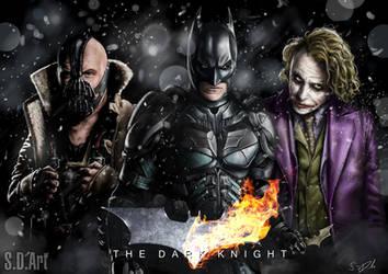 The Dark Knight by SamDenmarkArt