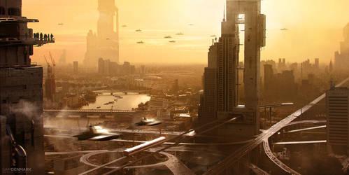 Cityscape by SamDenmarkArt