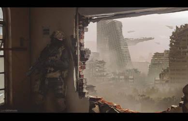City Attack by SamDenmarkArt