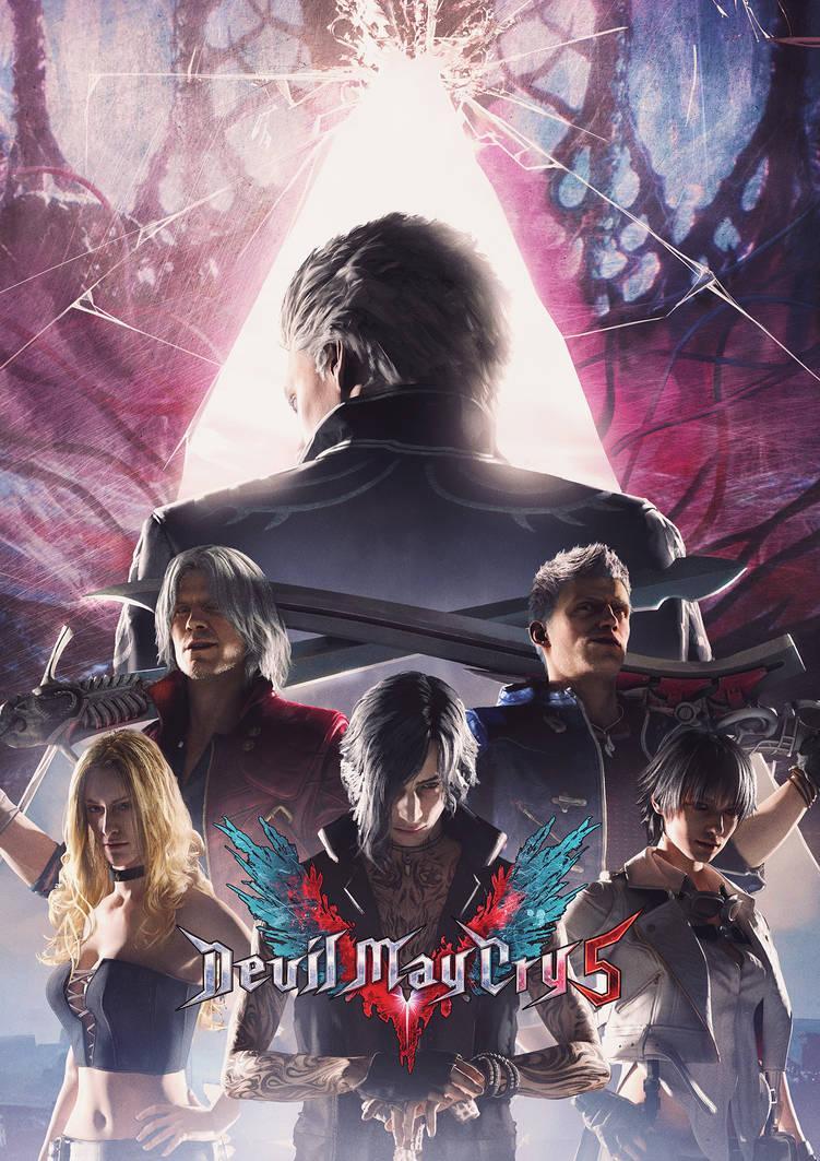 Devil May Cry 5 Poster by SamDenmarkArt