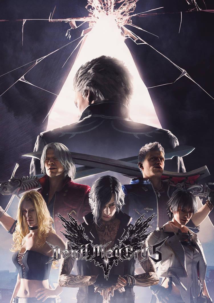 Devil May Cry 5 Poster V2 by SamDenmarkArt