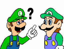 Luigi meets Weegee by Deuterag0nisT