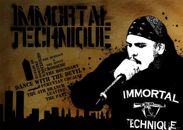 Immortal Technique Stencil by supermanisback