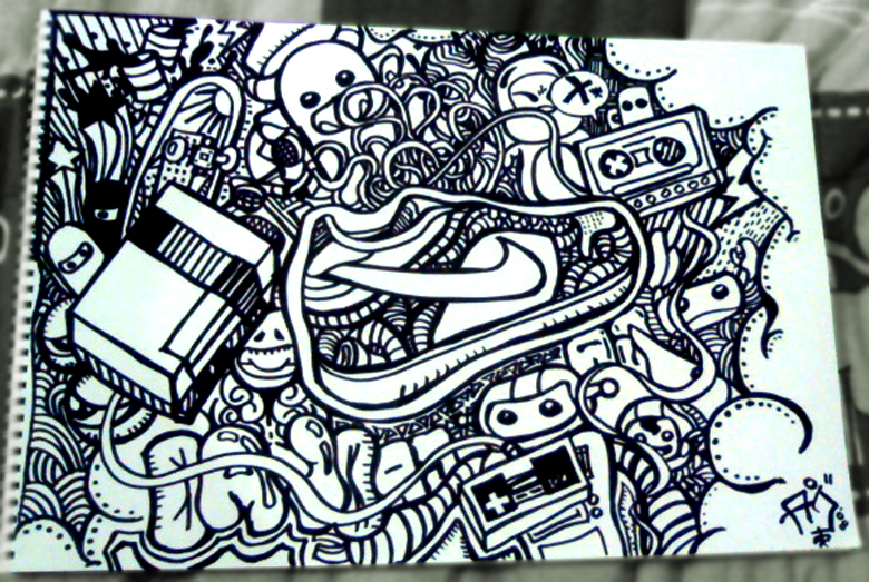 Simple Black And White Doodles Black and white doodle by ...