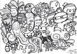 KidNinja Town Doodle