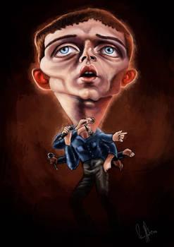 Ian Curtis - Joy Division caricature