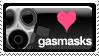 Love Gasmasks Stamp by junkpile