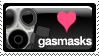 Love Gasmasks Stamp by junkpile