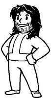 Vault Boy - Long-hair Stubbly
