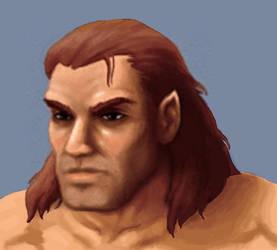 Arcanum Custom Portrait - Half-Orc Male