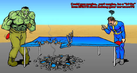 FALLOUT: An Apocalyptic Post-Table Tennis Match
