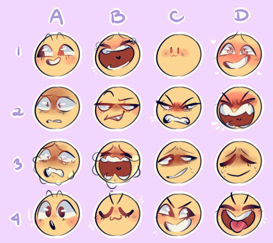 Funny Facial Expressions Meme : Expressions meme by bluminescent on deviantart