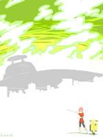 Haruko tegaki by HedgehogBeeblebrox