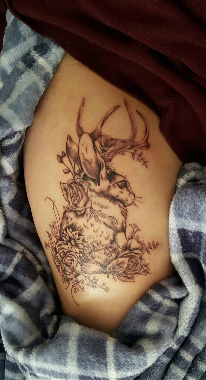 jackalope tattoo by emerald owl on deviantart