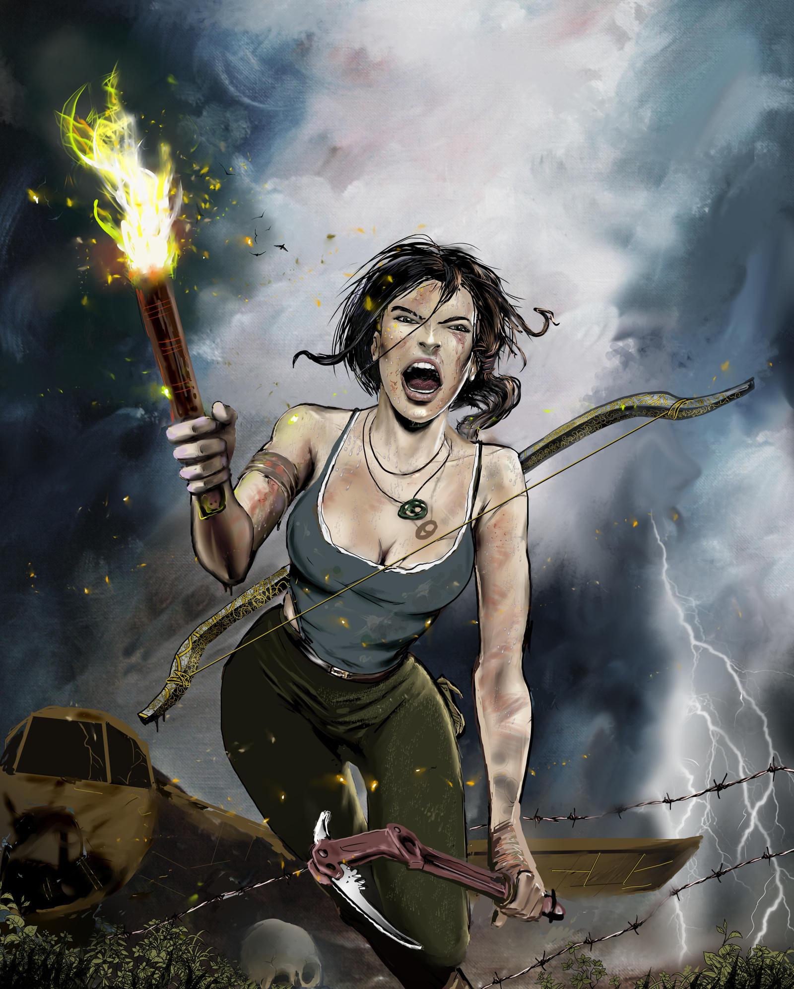 Tomb Raider 2013 Wallpaper: Lara Croft Shout By 888toto On DeviantArt