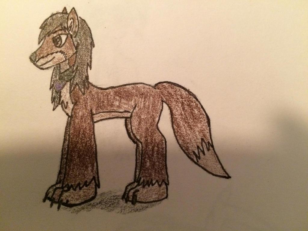 My Pony wolf form by Amnshe-wolf