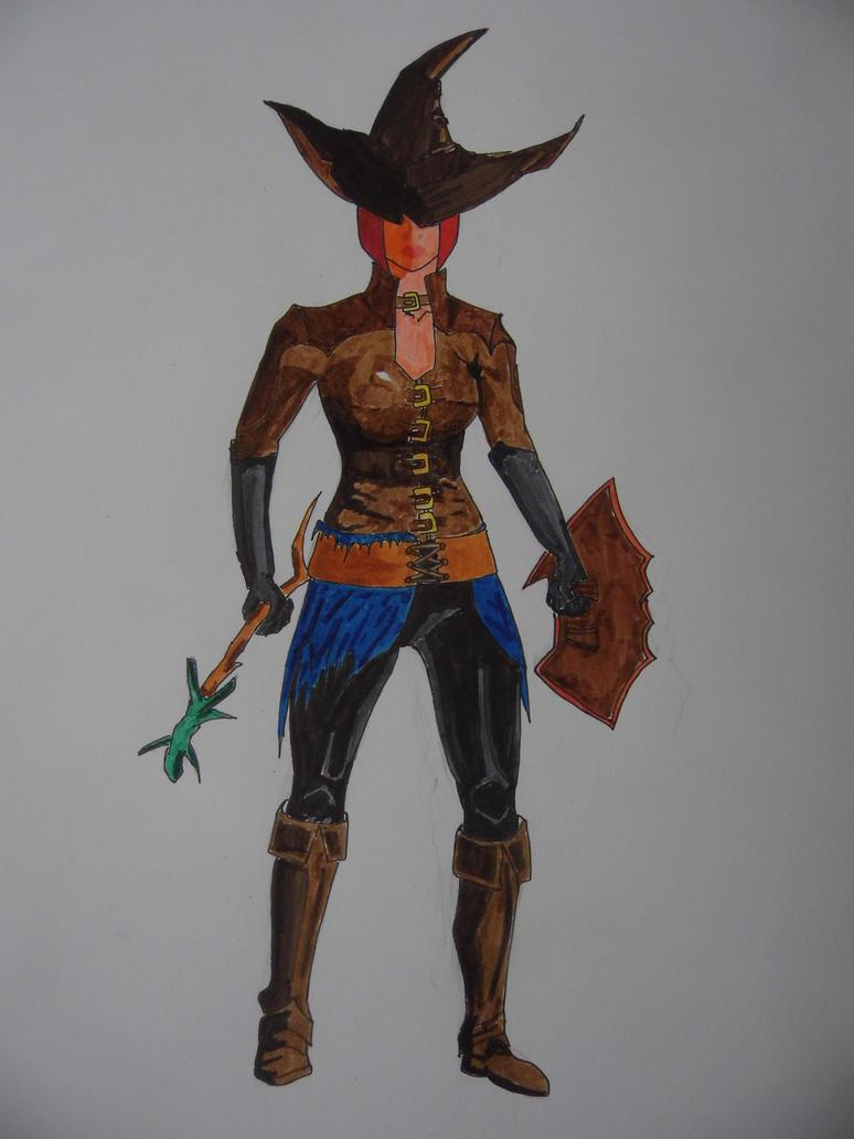 Sorceress from Dark Souls 2 by TV-Yojimbo