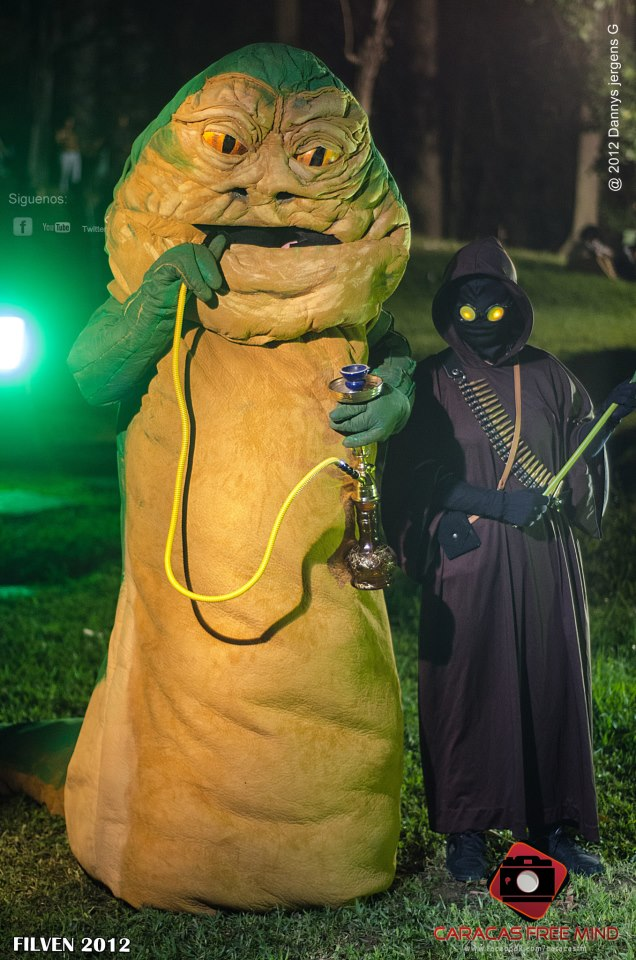 Jabba the hutt with a Jawa by eoyaguar on DeviantArt Jabba The Hutt Cosplay