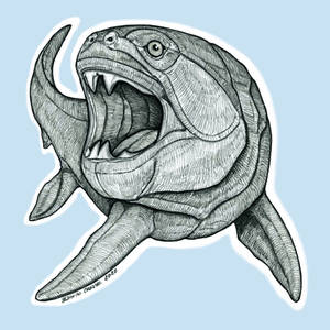 Inktober 2020, Day 1: FISH (Dunkleosteus terrelli)