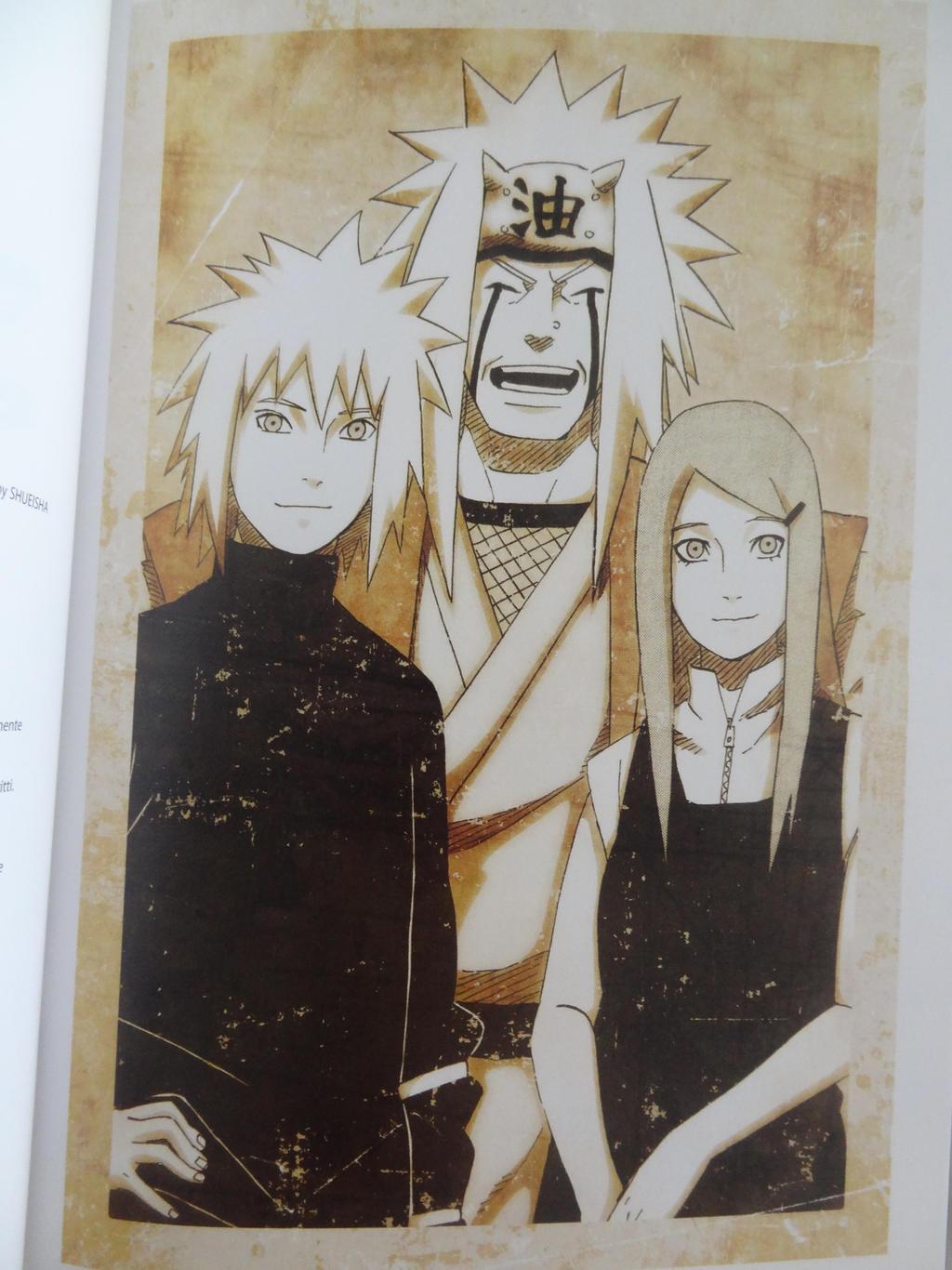 Minato/Jiraya/Kushina Drawing from Jiraya Book by LugiasDark96