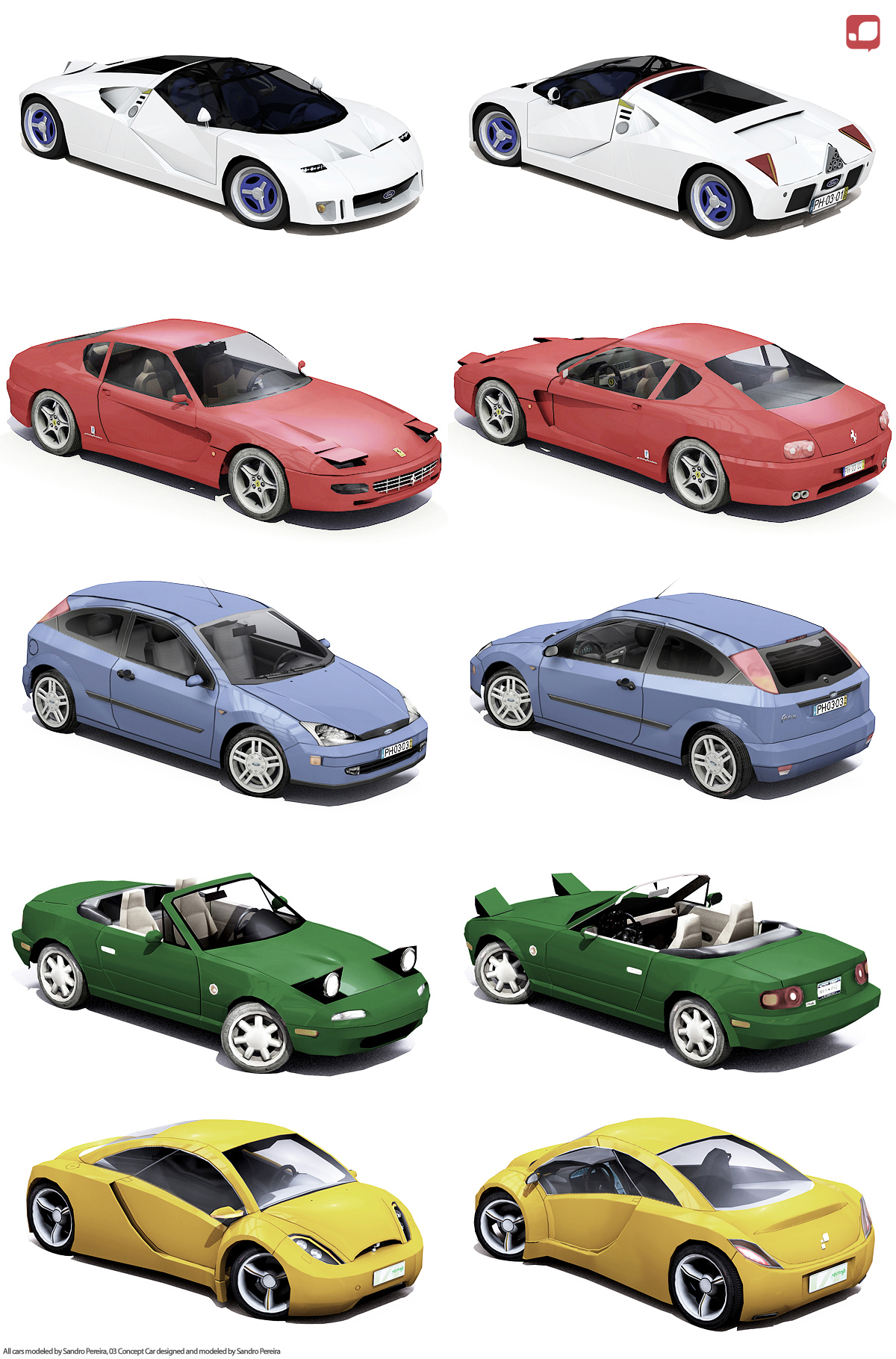 3D Car Collection by sandrodcpereira