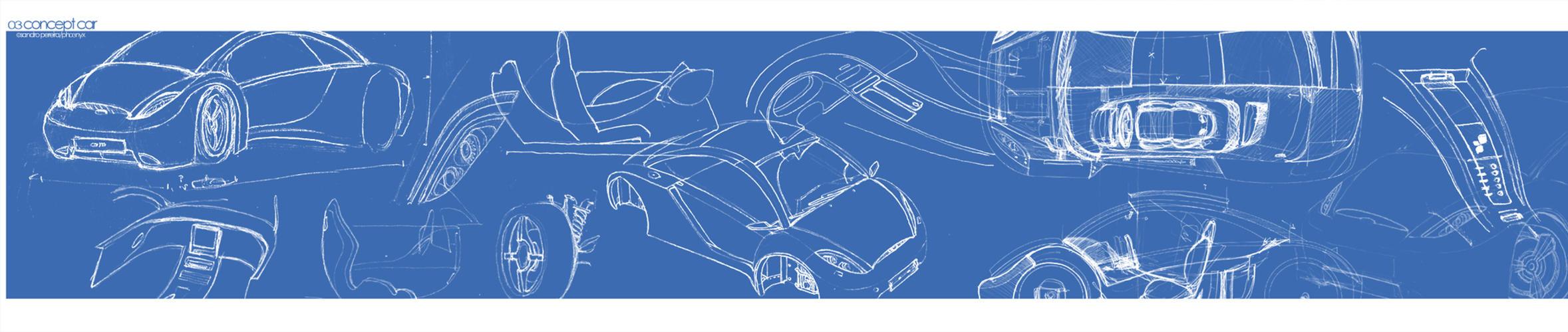 03 Concept Car - Sketches by sandrodcpereira