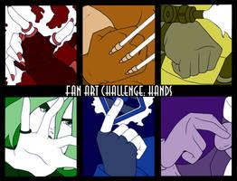FAN ART CHALLENGE: HANDS by Evo-Obsessed-Club