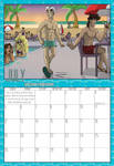 2009 Calendar - July by Evo-Obsessed-Club
