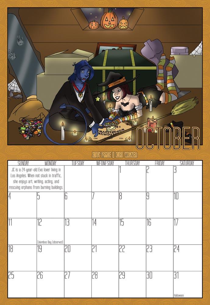2009 Calendar - October by Evo-Obsessed-Club