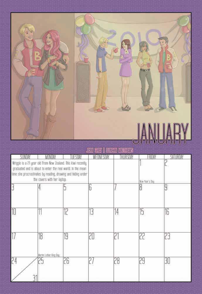 2010 Calendar - January by Evo-Obsessed-Club