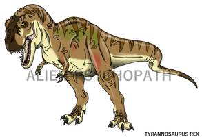 Jurassic Park: Female Tyrannosaurus rex by Alien-Psychopath