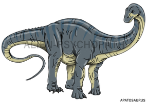 Jurassic World: Apatosaurus by Alien-Psychopath