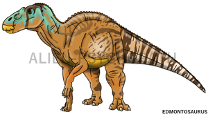 Jurassic World: Edmontosaurus by Alien-Psychopath