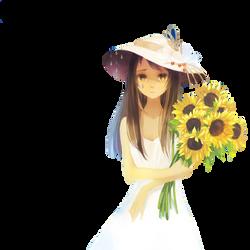 Anime girl sad render by Eru-No-Law
