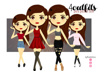 4outfits para Pacific Doll by PelushitaPetisuit