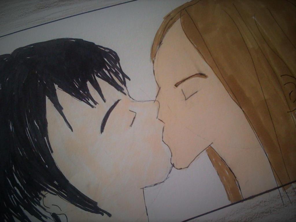 First  kiss by fairybatkat