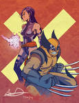 X-men: Psylocke and Wolverine