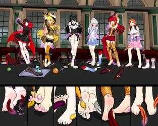 Food fight foot punish by codricor1