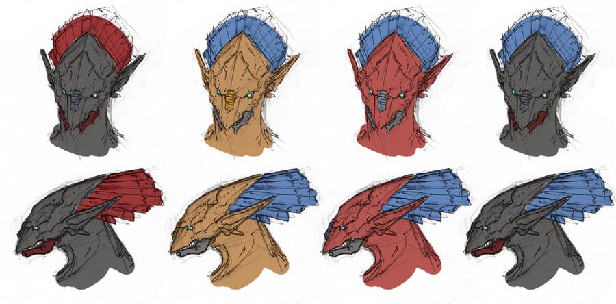 Tsujin head colors by Zaeta-K
