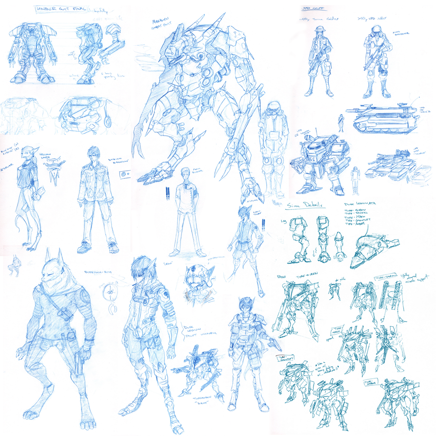 Giant Sketch Dump by Zaeta-K