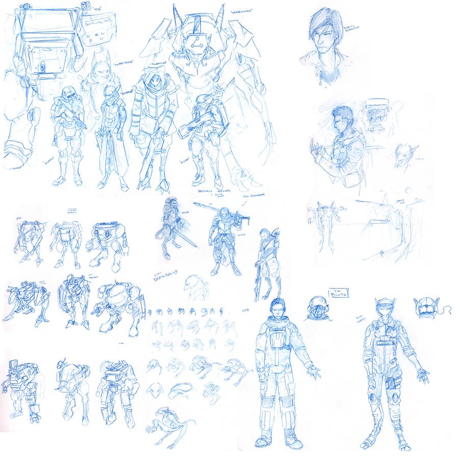 Giant Sketch Dump II by Zaeta-K