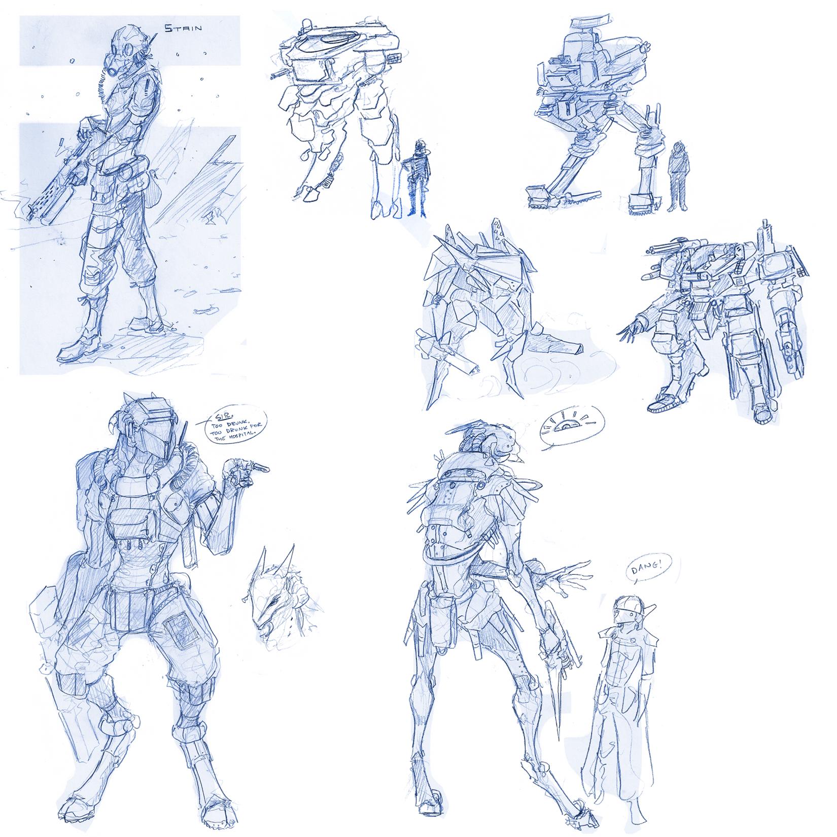 Giant Sketchdump V / Planedump II by Zaeta-K