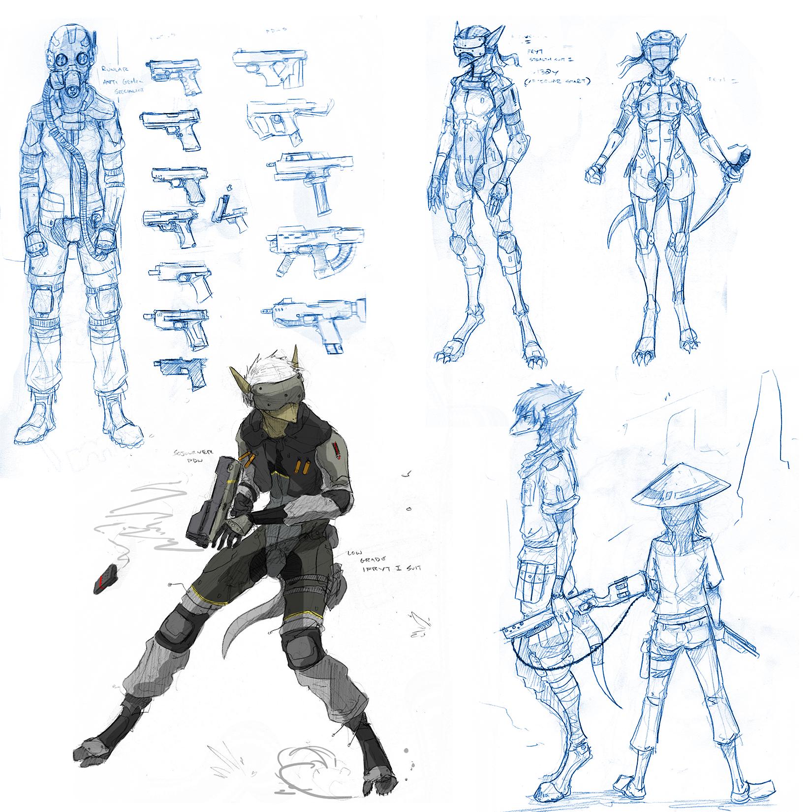Giant Sketchdump VI / Planedump III by Zaeta-K