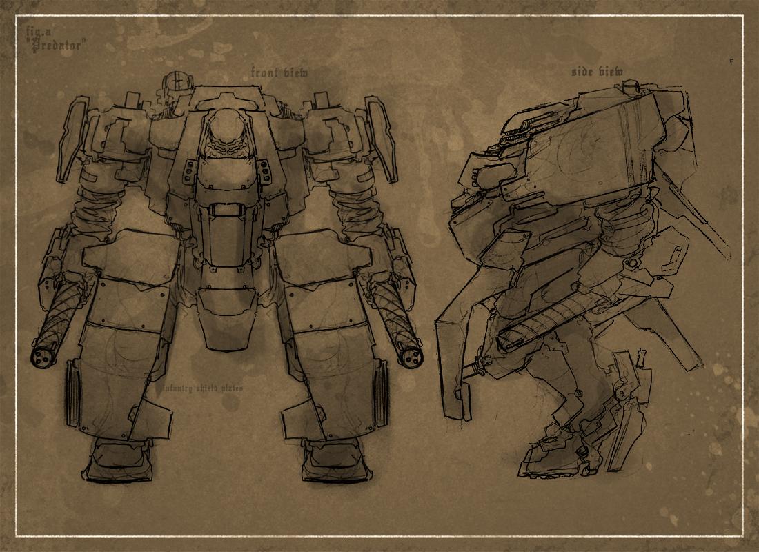 Ye Olde Predator Sketch by Zaeta-K